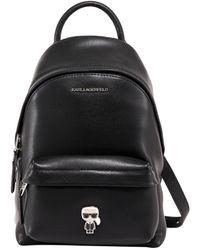 Karl Lagerfeld K/ikonik Logo Plaque Backpack - Black
