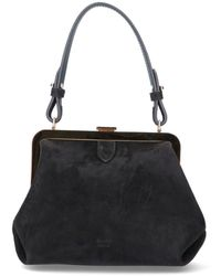 Khaite Small Agnes Top Handle Bag - Black