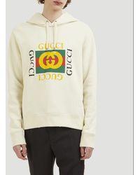 Gucci Logo Hoodie - White