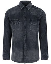 DIESEL S-east-long-ve Western Shirt - Black
