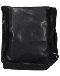 Guidi Zipped Shoulder Bag - Black