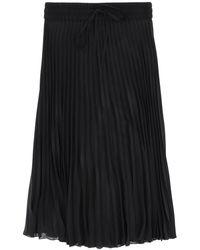 RED Valentino Pleated Midi Skirt - Black