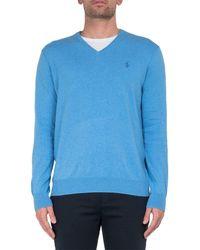 Polo Ralph Lauren V-neck Fine Knit Jumper - Blue