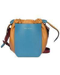 Marni Gusset Bucket Bag - Blue