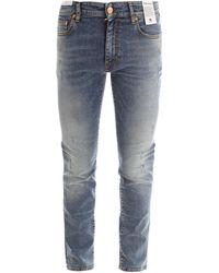 PT01 Distressed Slim Fit Jeans - Blue