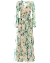 Max Mara Floral Printed Dress - Green