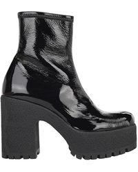 Miu Miu Platform Ankle Boots - Black