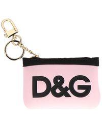 Dolce & Gabbana D&g Logo Keyring - Pink