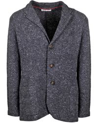 Brunello Cucinelli Single Breasted Jacket - Grey