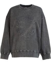 Stella McCartney Logo Embossed Jumper - Grey