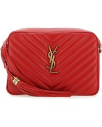 Saint Laurent Lou Quilted Crossbody Bag - Red