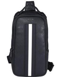 Bally Malikho Stripe Detail Sling Bag - Black