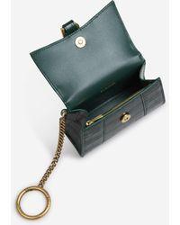 Balenciaga Hourglass Keychain Card Holder - Green