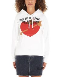 Helmut Lang White Printed Cotton-jersey Sweatshirt