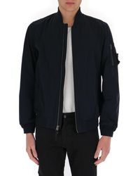 Woolrich Lightweight City Bomber Jacket - Blue