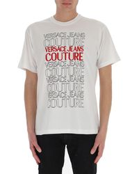 Versace Jeans Couture Lettering Logo T-shirt - White