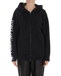 Pinko Slogan Printed Hooded Jacket - Black