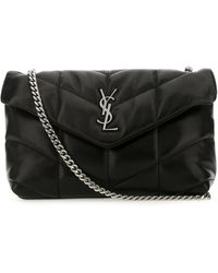 Saint Laurent Toy Loulou Puffer Matelassé Mini Bag - Black