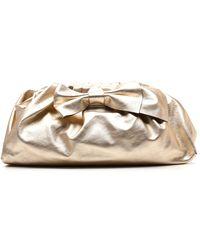 RED Valentino Redvalentino Bow Clutch Bag - Metallic