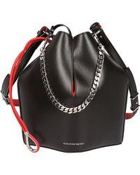 Alexander McQueen Chain Handle Bucket Bag - Black