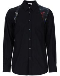Alexander McQueen Glowing Botanical Harness Shirt - Black