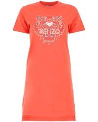 KENZO Tiger Printed T-shirt Dress - Red