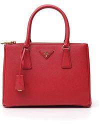 Prada Galleria Tote Bag - Red