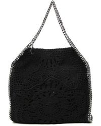 Stella McCartney Falabella Crochet Tote Bag - Black