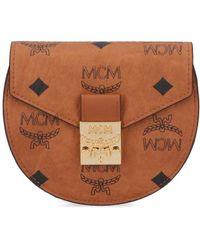 MCM Patricia Visetos Flap Wallet - Brown