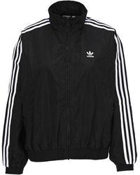 adidas Originals Logo Print Track Jacket - Black