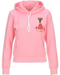 Comme des Garçons Graphic Embroidered Drawstring Hoodie - Pink