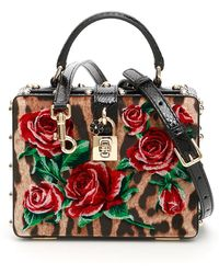 afe1a7dab5 Dolce   Gabbana Sicily Crocodile and Snake Cross-Body Bag in Red - Lyst