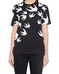 McQ Swallows Printed T-shirt - Black