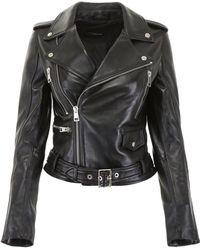Manokhi - Belted Biker Jacket - Lyst