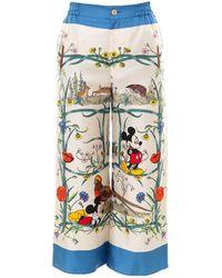Gucci X Disney Mickey Mouse Printed Pyjama Trousers - Multicolour