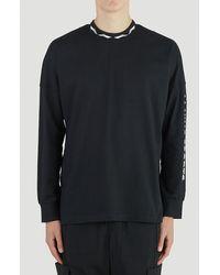 Li-ning Logo Print Long-sleeved T-shirt - Black