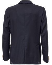 Corneliani Double-breasted Tailored Blazer - Blue