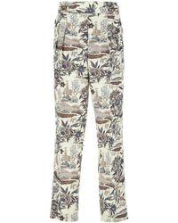 Nanushka Printed Cotton Blend Evon Pant Nd Uomo - Multicolour