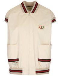 Gucci Off-white Canvas GG Panama Vest