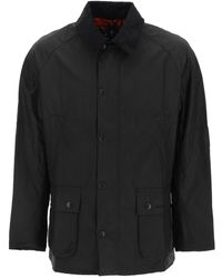 Barbour Ashby Waxed Jacket S Cotton - Black