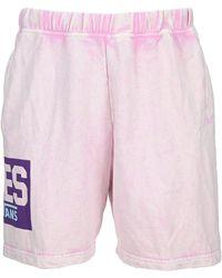 Vans Logo Print Shorts - Pink