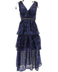 Self-Portrait Dress - Blue