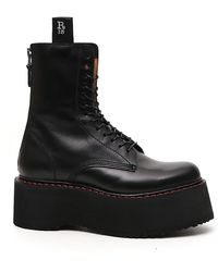 R13 Double Stacked Combat Boots - Black
