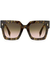 Fendi Square Frame Sunglasses - Multicolor
