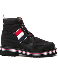 Thom Browne Striped Ankle Boots - Black
