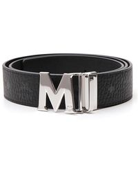 MCM Claus Reversible Buckle Belt - Black