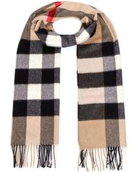 Burberry Check Fringed Scarf - Multicolor