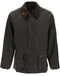 Barbour Bedale Classic Jacket In Waxed Cotton - Black