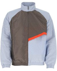 Daily Paper Panelled Zip Bomber Jacket - Multicolour