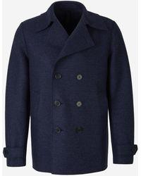 Harris Wharf London Double-breasted Wool Coat - Blue
